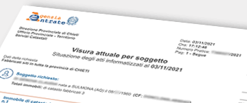 Esempio Documento Catasto su Nominativo